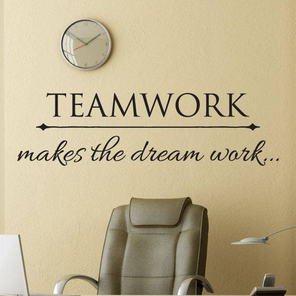 Motivational Quotes For Sports Teams: Wall Quotes Office Professional Teamwork Makes The Dream Work