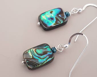 Abalone Earrings - Abalone Dangles - Shell Earrings - Shell Dangles - Handmade Earrings - Abalone Drop Earrings - Valentines Gift for Her
