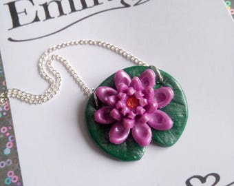 Handmade Lilly Pad Necklace