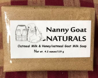 Oatmeal Milk & Honey Goat Milk Soap (with oatmeal)