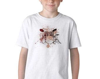 Drums Rock Punk Music T-Shirt for Kids
