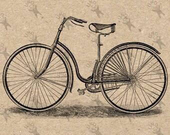 Vintage Bike Fahrrad Bild Instant Download druckbare Vintage Bild Clipart digitales Grafik Scrapbooking, Sackleinen, Aufklebern usw. 300dpii