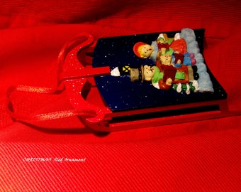 Vintage Sled Christmas Ornament