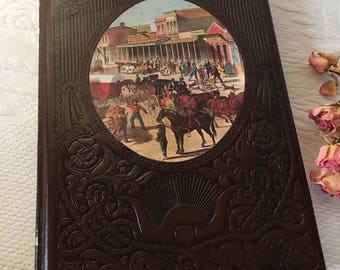 Vintage Embossed Leather Like, The Old West, The Townsmen, Book From Time-Life Books. Published in 1975 With Old Photographs. Collectible.