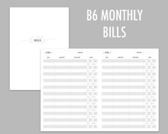 B6 TN Monthly Bills