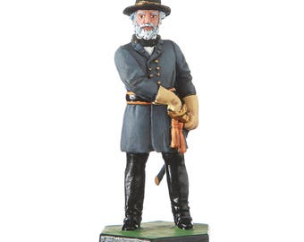 Tin Toy Soldier US Civil war Confederate General Robert Lee metal figurine 54mm hand painted #CW07