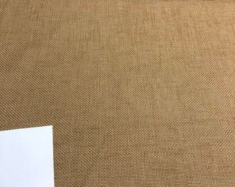 Antique Copper Jute Burlap Polyester Drapery Upholstery Fabric By the yard
