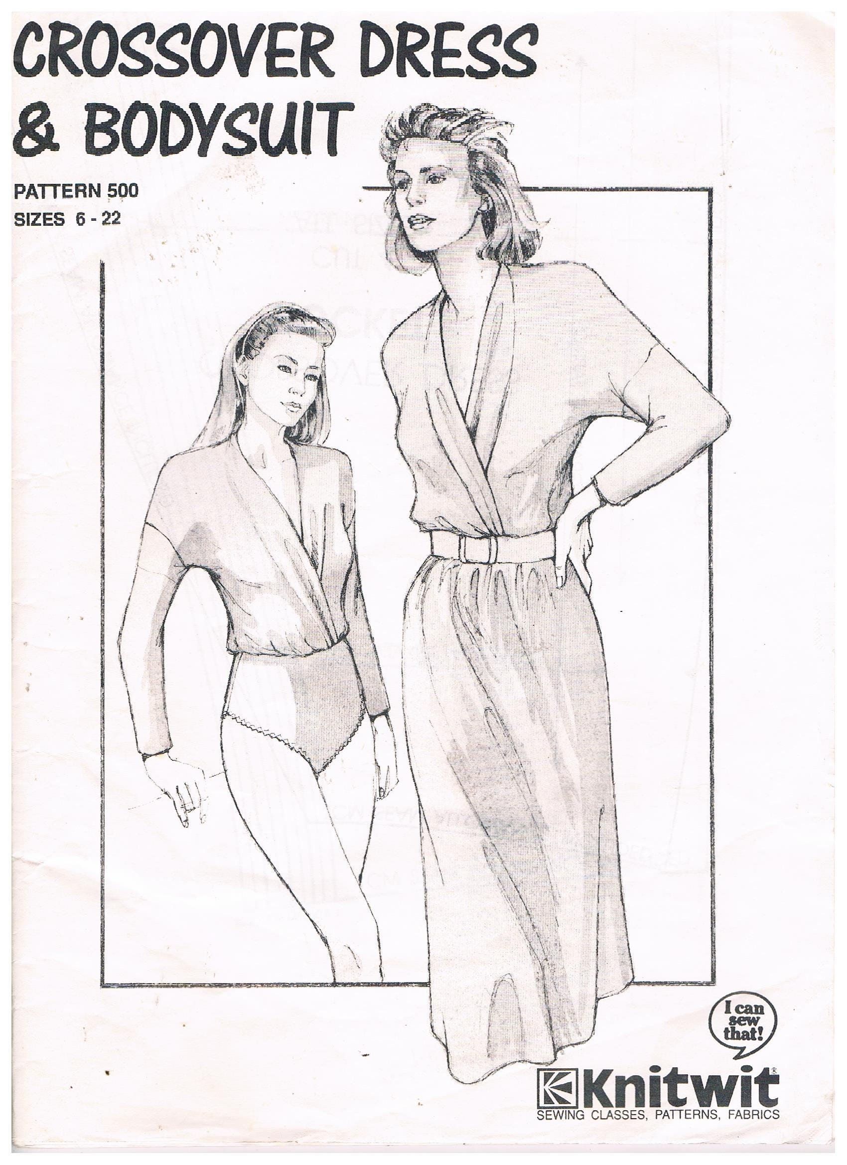 Crossover Dress & Bodysuit - sizes 6 to 22 by Knitwit Pattern No ...