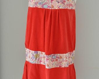 Red velvet dress and liberty