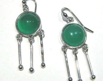 green agate   silver 925%