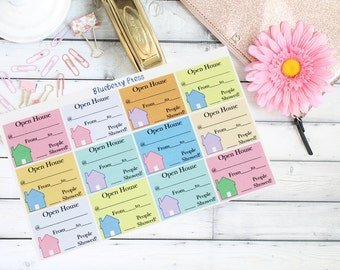 Realtor Stickers | Open House Stickers | Planner Stickers