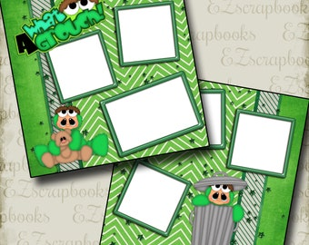 WHAT A GROUCH - 2 Premade Scrapbook Pages - EZ Layout 681