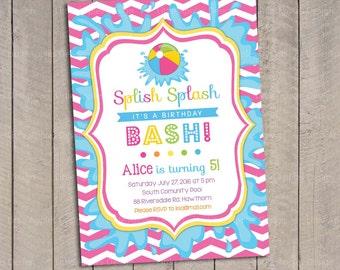 Pool Party Invitation / Kids Pool Party Invitation / Pool Invitation / kids pool party / Pool birthday / Party Digital Printable DIY