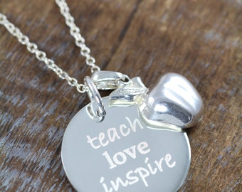 Graduation Gifts for Teacher , Jewelry Necklaces Pendants for Teachers 925 Sterling Silver