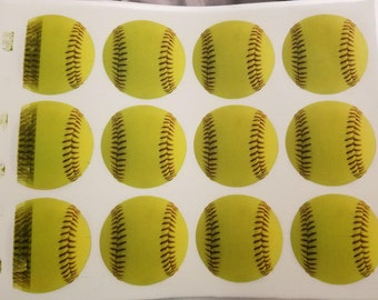 MISPRINTED ~ Softball Cookie/Cupcake Edible Image (8.5x11)