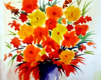 Beauty of flowers - Original Hand painted Watercolor Painting