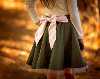 City Lights Skirt PDF Sewing Pattern, including sizes 12 months-14 years, Circle Skirt Pattern