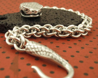 Uber Snake Bracelet in Non Tarnish Argentium Sterling Silver - Jens Pind Chainmaille