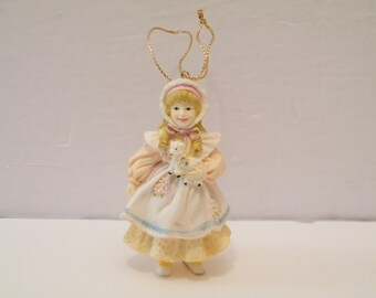Yolanda Bello Mary Had A Little Lamb Ornament, Vintage 1993 Hand Signed Ashton Drake Nursery Rhyme Series, nursery child room decor, holiday
