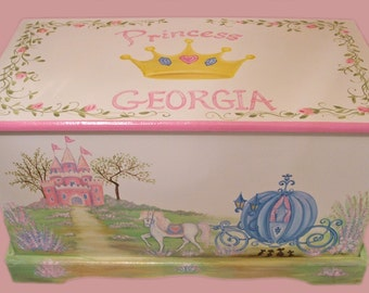 Custom Designed Cinderella Horse Carriage Toy Box
