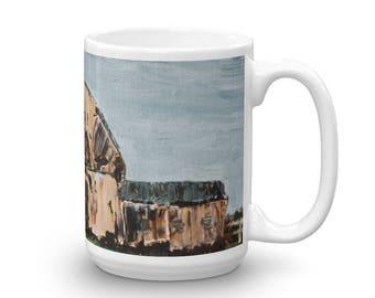 Barn Mug - 15 oz - Barn Painting Coffee Cup - Painted Barn Cup - Farming Mug - Farm Mug
