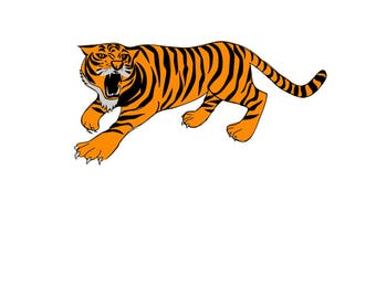 Tiger SVG Design Cutting File also includes PNG - for Cricut Design Space and Silhouette Studio - Commercial use