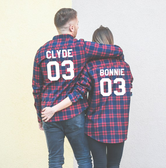 Clyde Couples Plaid Plaid plaid 03 Bonnie Bonnie 03 Matching plaid 03 Couples shirts Shirts 03 shirts Clyde Shirts 5CRFqw