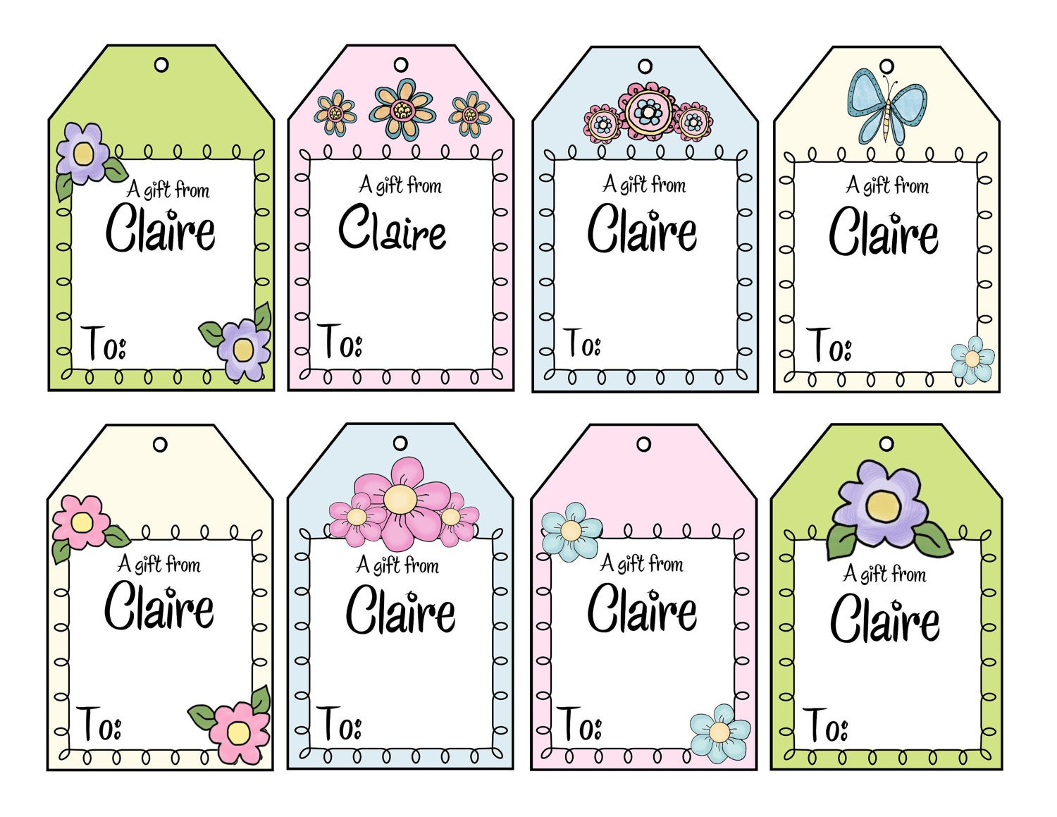 Printable personalized im a girl gift tags personalized girly 600 free shipping negle Images