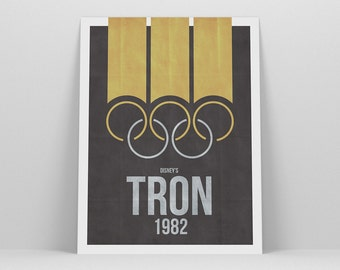 Tron Print ~ Movie Poster, Film Gift, Art Print by Christopher Conner