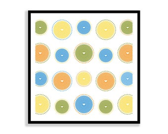 Pretty Patterns 12X12 Printable Art, Instant Download