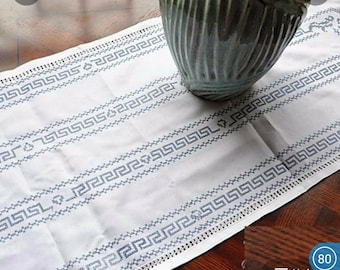 """Embroidery Table Runner oval 16.9""""x44"""" item no 1005"""