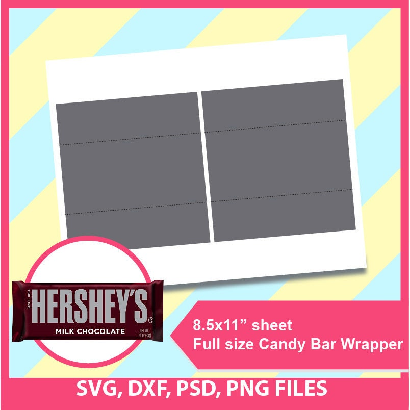 hershey candy bar wrapper template