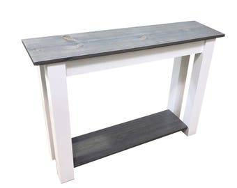 Cottage Entry Table with Shelf / Sofa Table / Foyer Table / Media Table