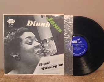 "Vintage Jazz Live Album 12"" L P - Dinah Washington ""Dinah Jams"" EmArcy/Mercury; 1955 VERY GOOD! MG-36000 A"