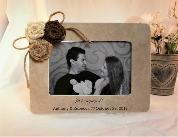 Congratulations Engagement gift for couple frame, just newly engaged ...