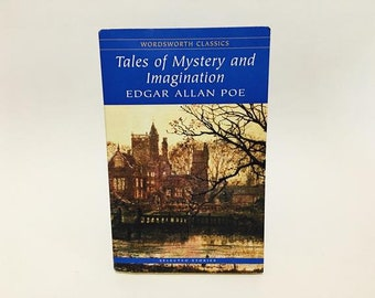 Tales of Mystery and Imagination by Edgar Allan Poe UK Edition Softcover Vintage Horror Paperback Book Anthology