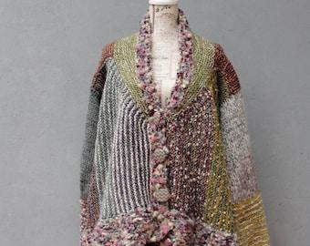 Knitted Jacket Cardigan Knitwear Clothing Large/ Extra Large Size, plus size fashion