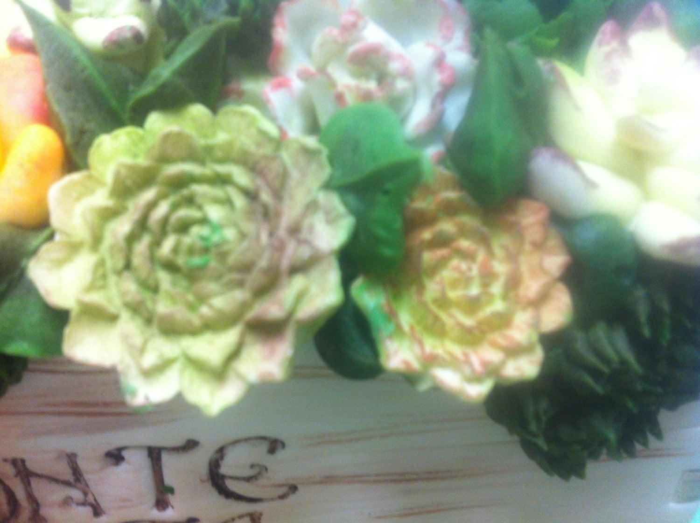 4 cavity succulent flowers silicone mold for fondant gumpaste 2000 izmirmasajfo
