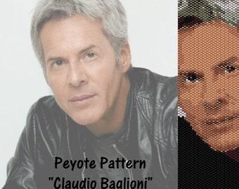 """Peyote pattern  for bracelet cuff  """"Claudio Baglioni"""""""