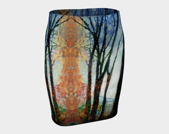 The Light in the Forest Fitted Skirt