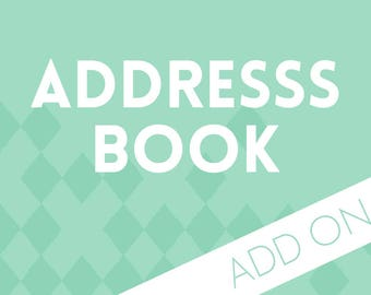 Planner Add-on : Address Book Pages