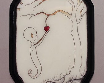Found heart original painting by Spinestealer