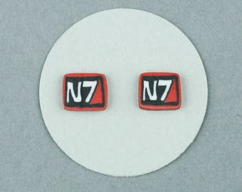 Spectre, N7, Mass Effect, Stud, Earrings