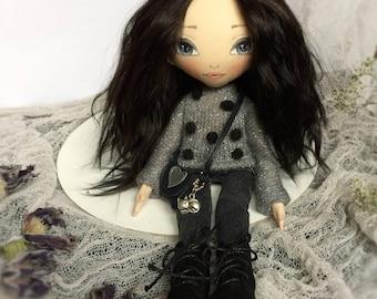 TEXTILE DOLL FABRIC doll Rag doll Cloth doll Handmade doll Handmade Art doll Interior doll Tilda doll Doll Soft doll Baby doll Gift for girl