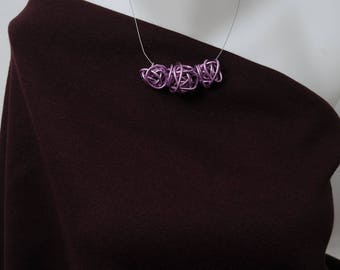 Knitting wool and cotton fabric plum by 155cm by 50cm No. 370