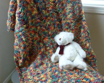 Multicoloured Knit Blanket