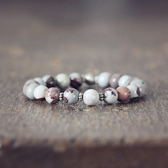 Gemstone Stretch Bracelet - Natural Jasper Bracelet