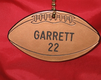 Personalized Football Gift / Football Team Gifts / Football Bag Tags / Football Player Gifts