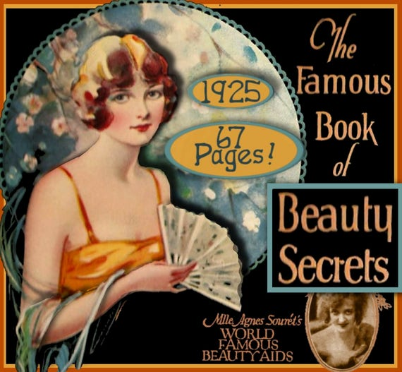 1920s Makeup Starts the Cosmetics Industry- History 1925 The FAMOUS Book of Beauty Secrets -  Art Deco  Flapper - 1920s e-booklet $4.99 AT vintagedancer.com