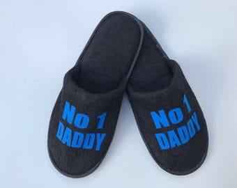 No 1 daddy slippers, no 1 dad slippers,best dad,christmas daddy gift, slippers, dad t-shirt , no 1 dad tshirt , personalised slippers